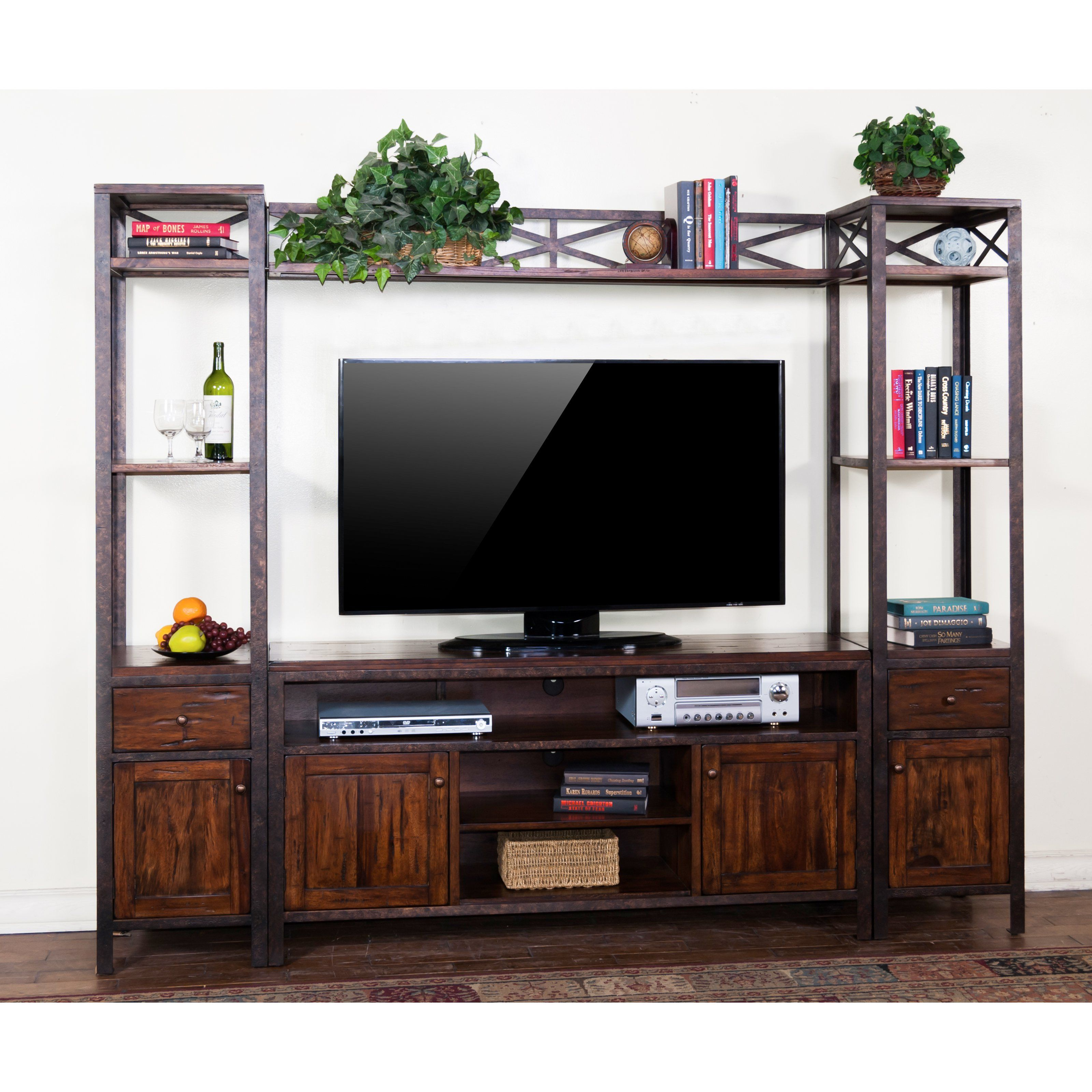 Entertainment Center Accent Wall With Vinyl: Sunny Designs Crosswinds 60 In. Entertainment Center