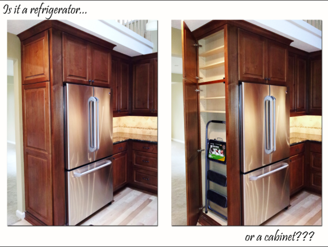 Built In Pantry Cabinet: Built In Refrigerator Cabinets