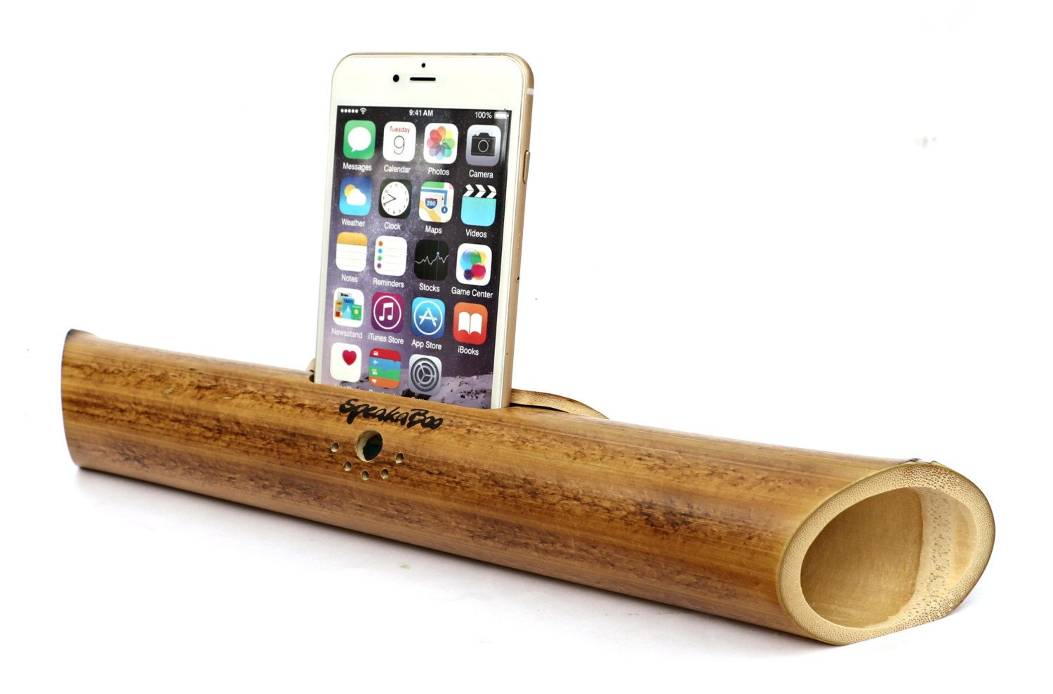Universal Adjustable Acoustic Bamboo Speaker For All Smartphones