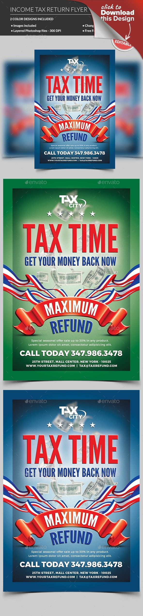 Income Tax Flyer Pinterest Flyer Template