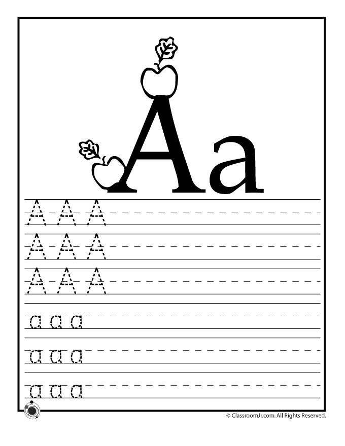 Learning ABC\'s Worksheets Learn Letter A – Classroom Jr. | Kids ...