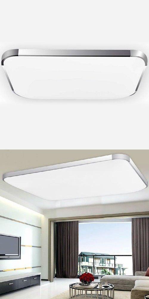 Lightinthebox modern minimalist led flush mount light aluminum acrylic electroplating modern home ceiling light fixture