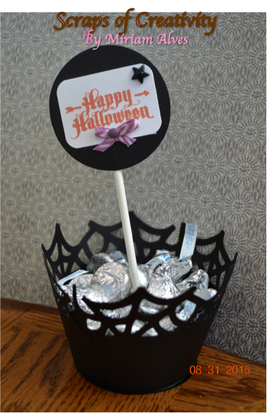 """Halloween table favor with CTMH """"Steampunk Scoundrels"""" stamp set"""