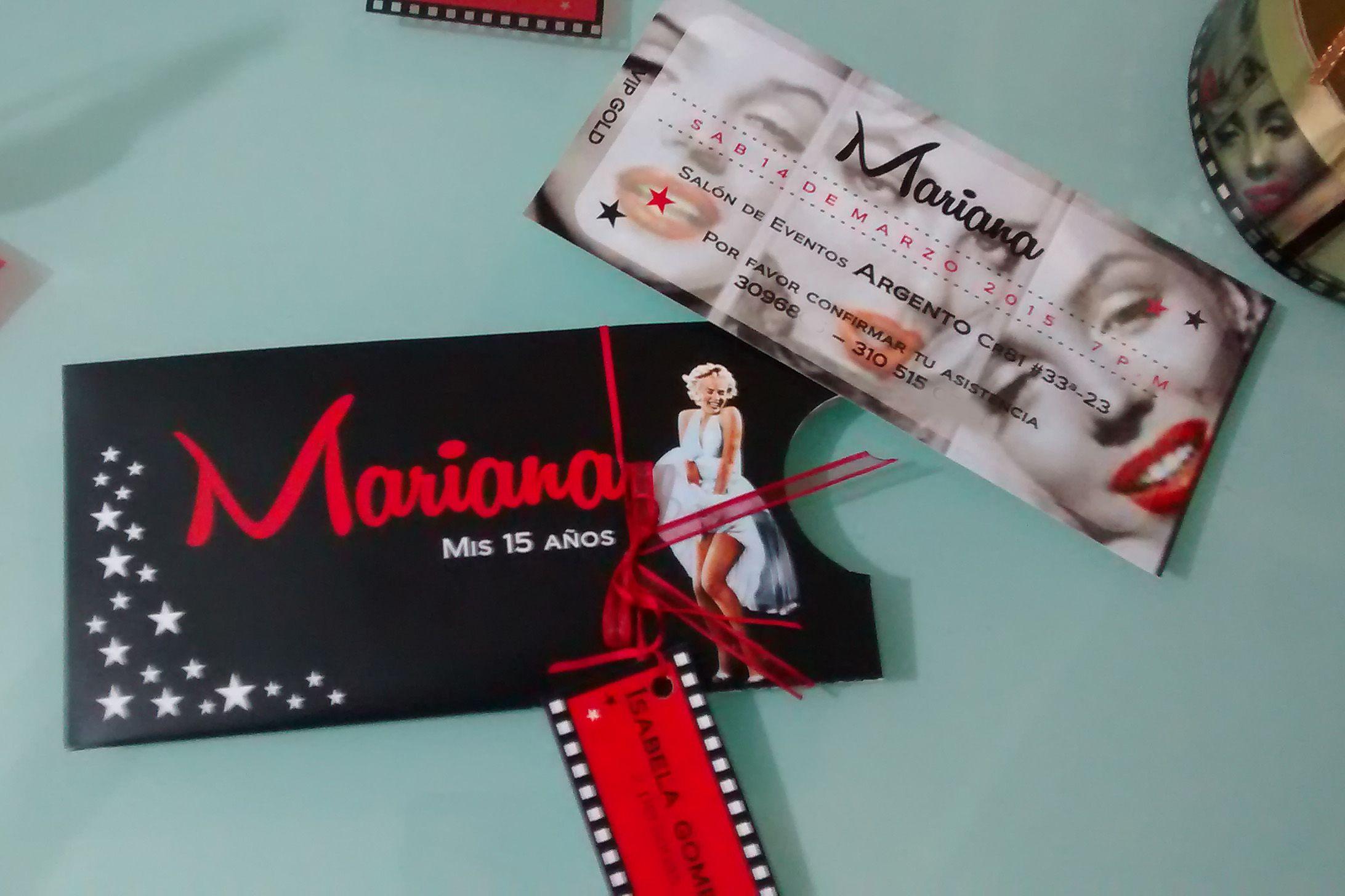 Invitación Marilyn Monroe