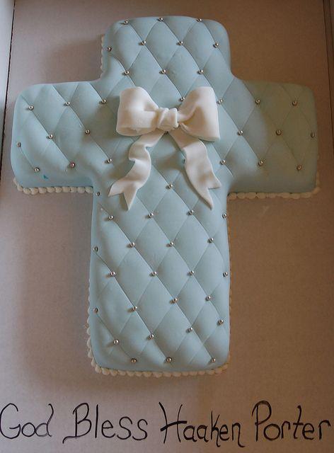 Confirmation Cross Cake … | desserts | Cross cakes, Baptism
