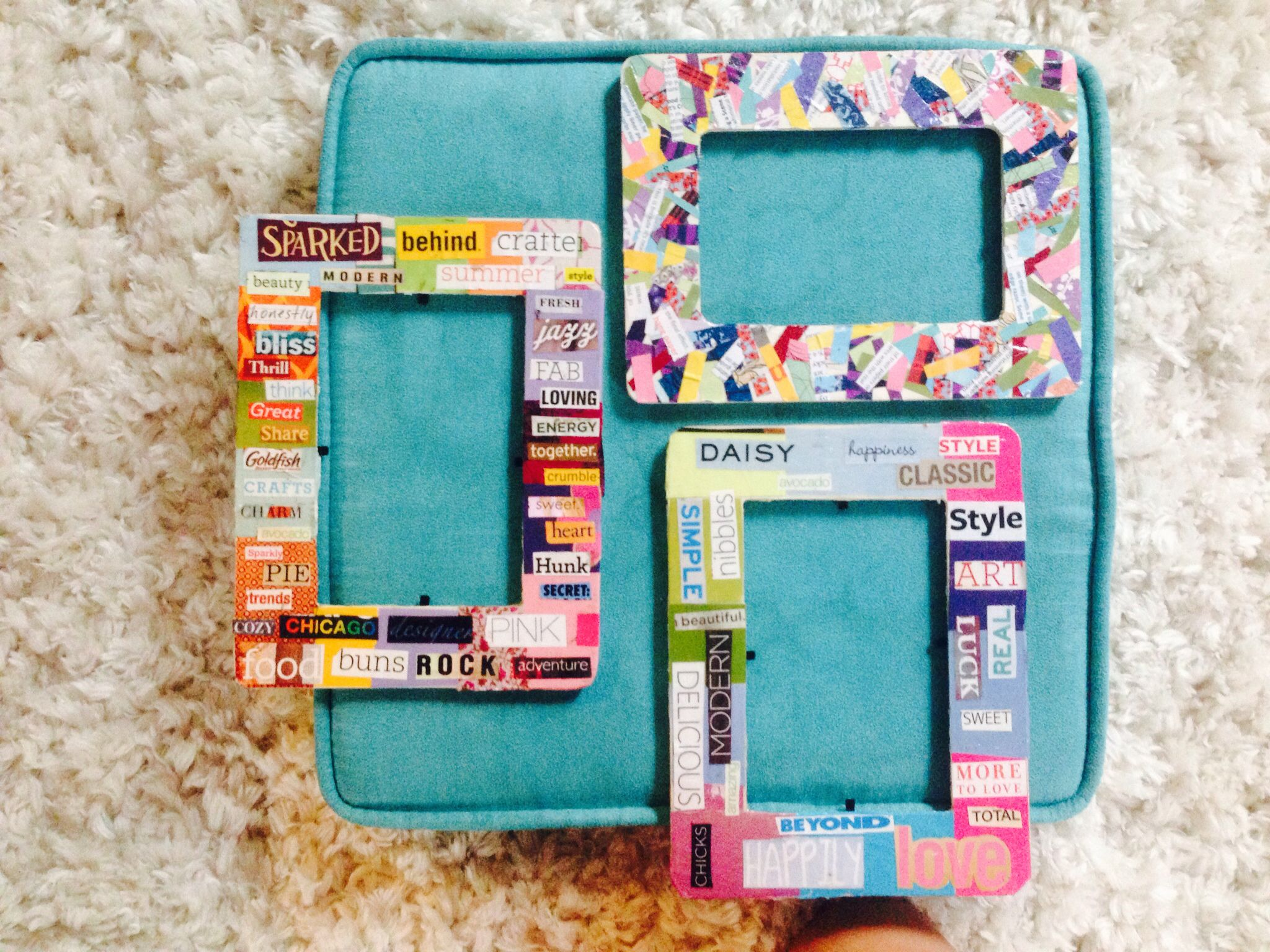 Modge podge wooden frames colloged with parts of a magazine very modge podge wooden frames colloged with parts of a magazine very easy and cute a magazinewooden framesdiysdiy solutioingenieria Choice Image
