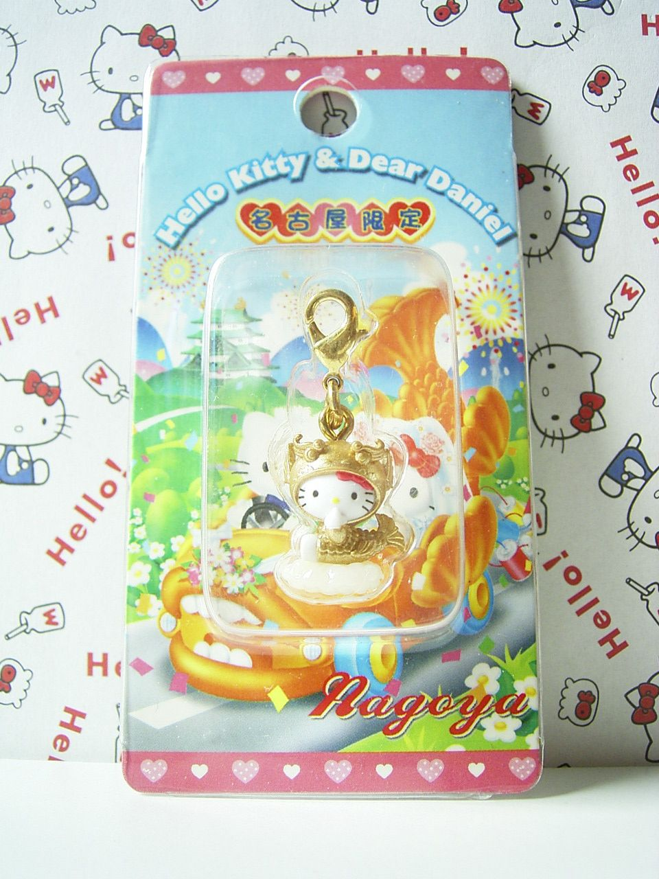 HELLO KITTY GOTOCHI Mascot Figure Charm NAGOYA JAPAN Only! Sanrio 2003 NEW 1.6cm 16.99