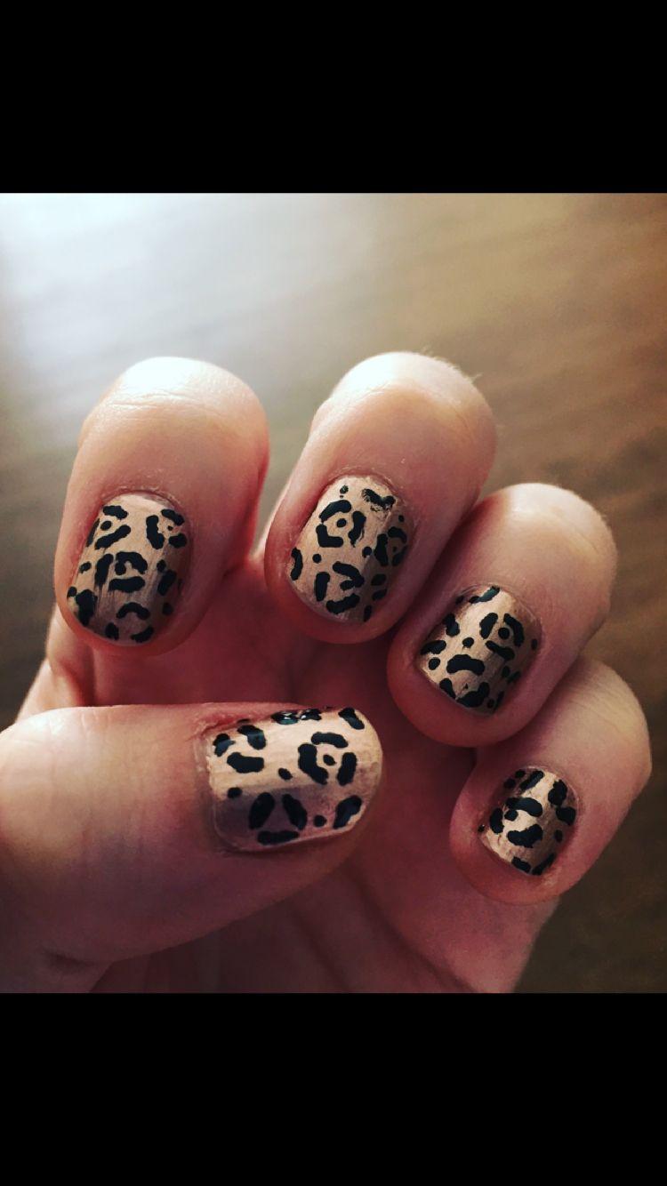Painted Some Leopard Print Nails Leopard Print Nails Nails Nail Designs