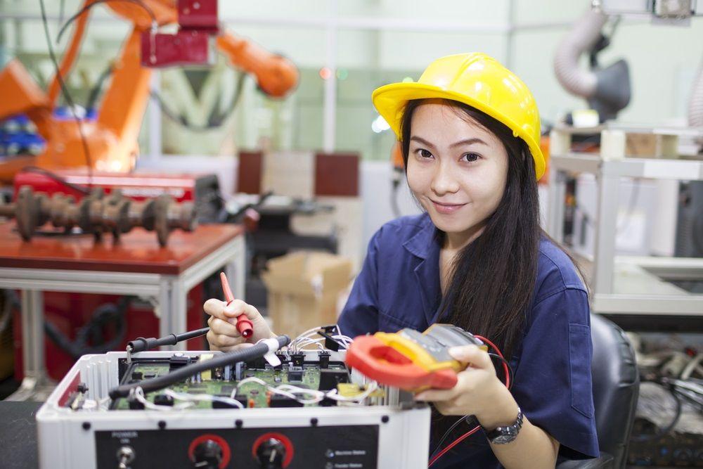 female engineer at work
