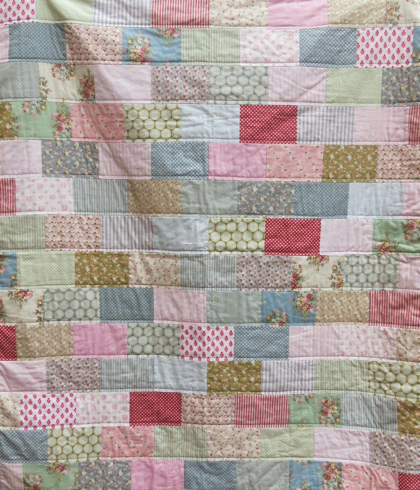 A Little Happy Place: Tilda Brick Quilt Number Two | Tilda ... : brick quilt - Adamdwight.com
