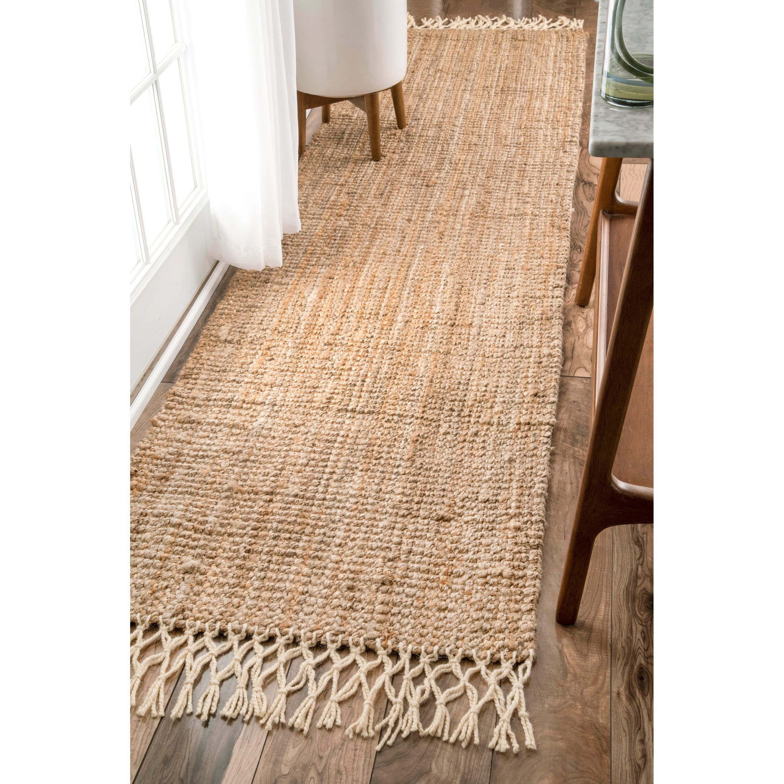 Sol En Fibre Naturelle the gray barn antelope springs chunky jute and wool tassel