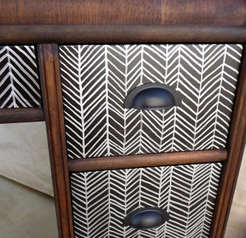 chevron painted furniture. Free-handed Chevron Pattern Drawn With Silver Paint Pen Painted Furniture C