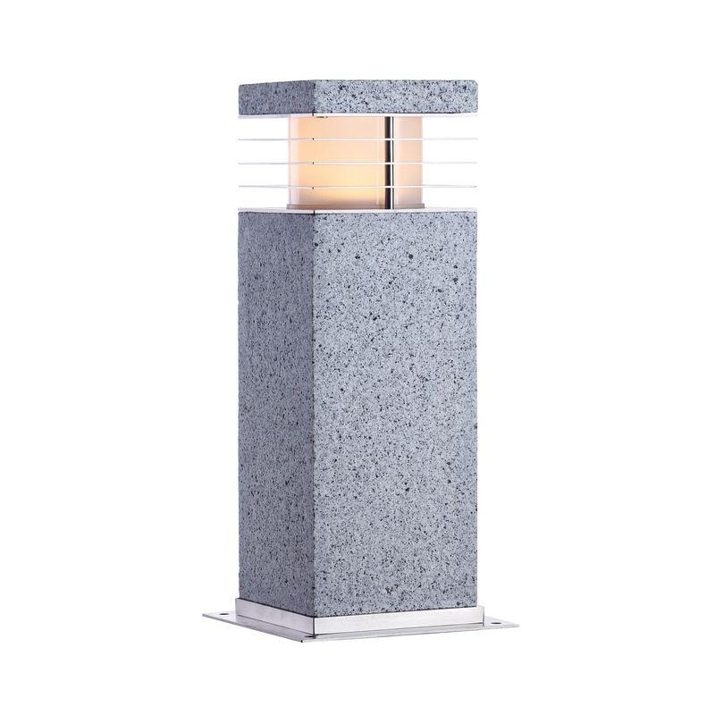 Borne d éclairage exterieur en granit et inox 316 Cette magnifique
