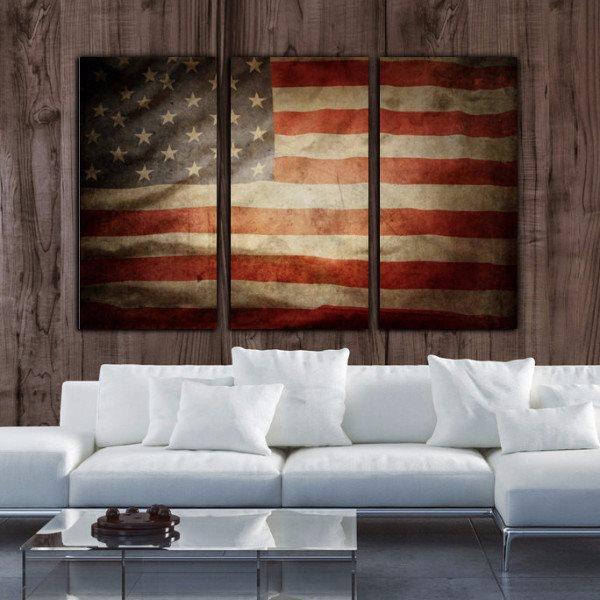 American Flag Wall Art American Flag Wall Art Flag Art Vintage American Flag