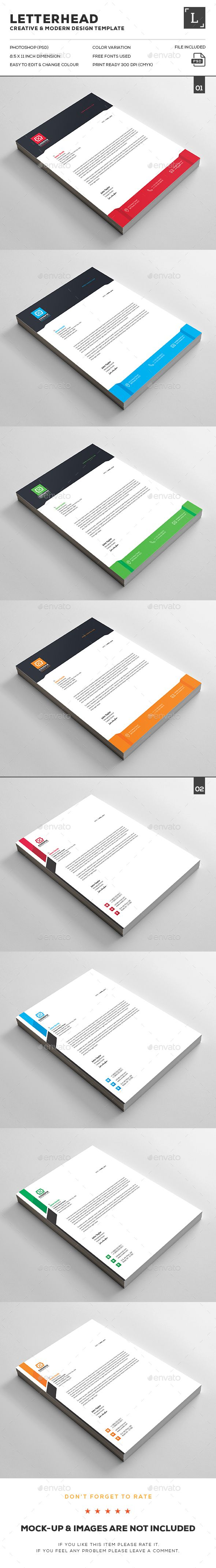 Free Printable Business Letterhead Templates Letterhead Bundle  Pinterest  Stationery Printing Letterhead .