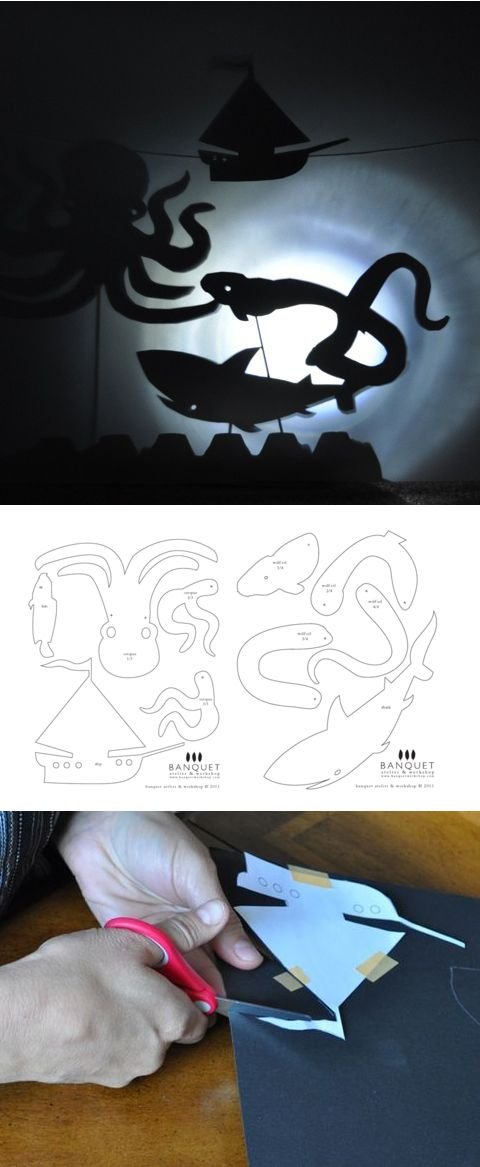 shadow puppet template & tutorial from Sarah & Tammy at frolic http ...