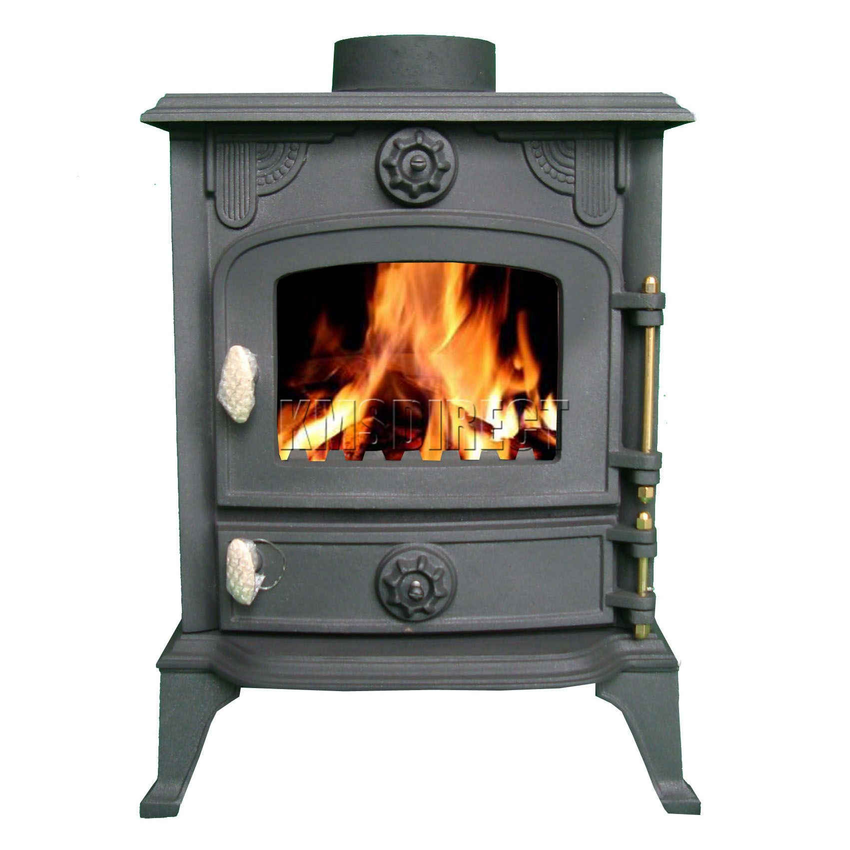 new cast iron log burner multifuel wood burning 6 kw stove