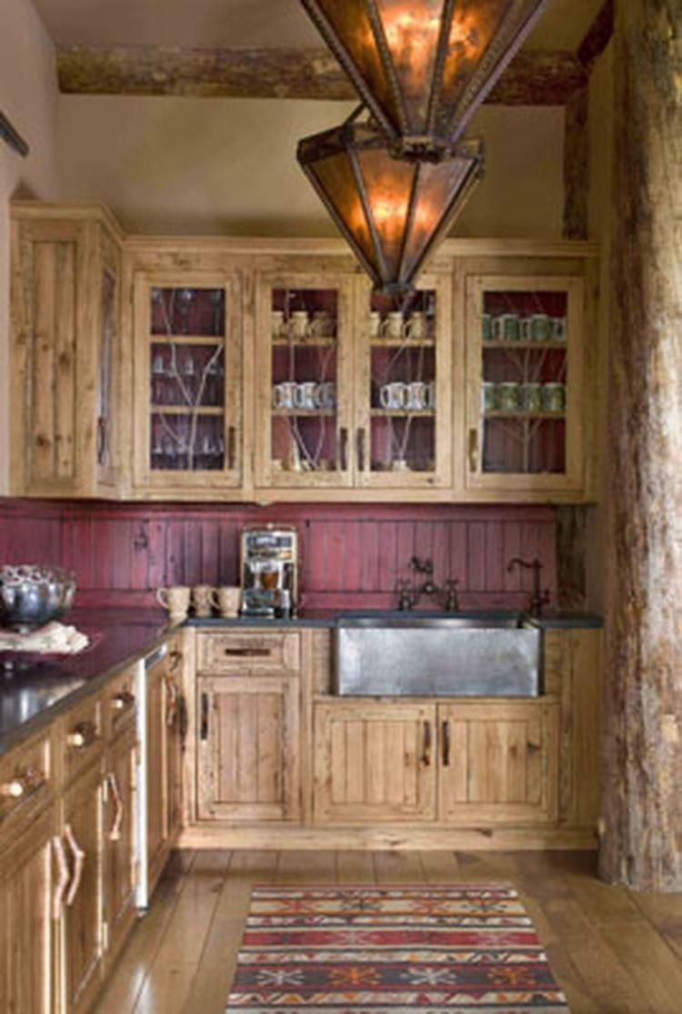 Fresh Rustic Red Kitchen Cabinets