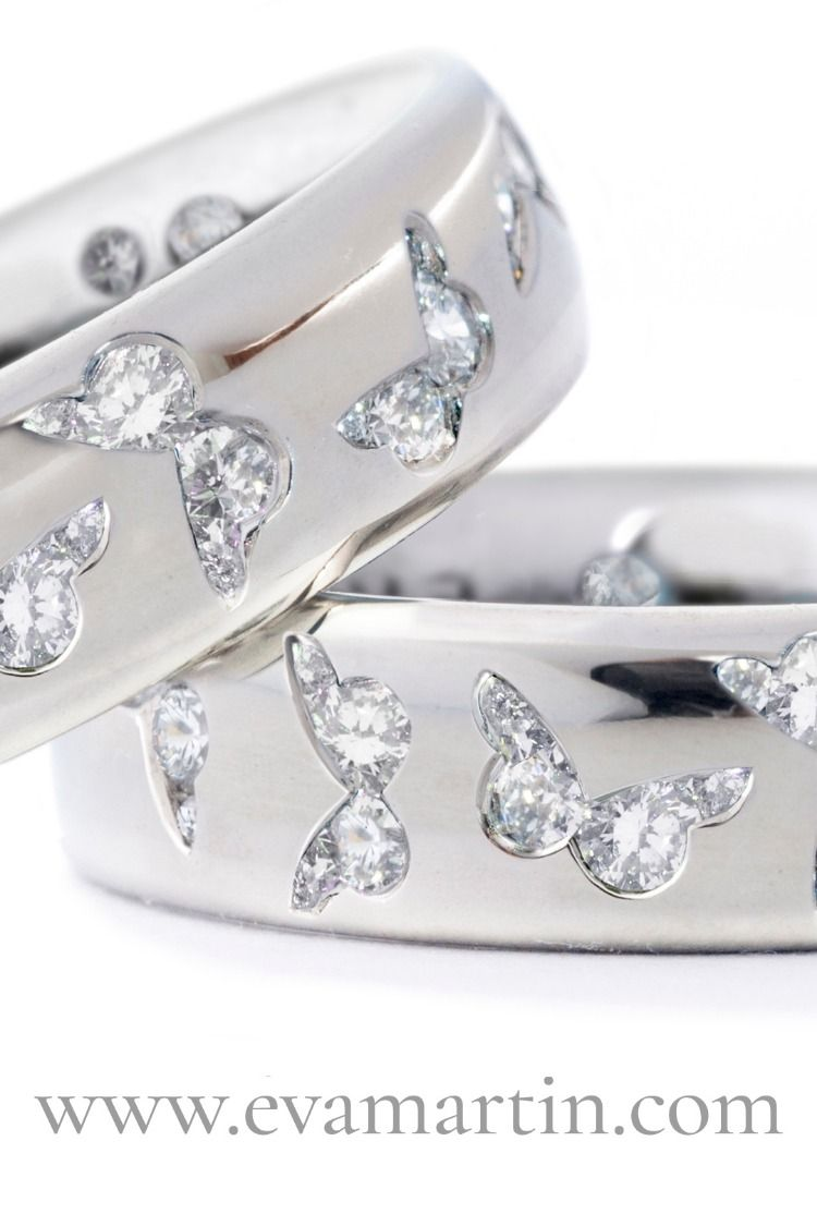 Butterfly Rings Platinum And Diamonds Custom Made In Any