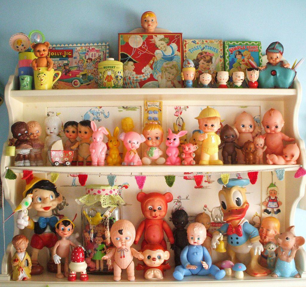 vintage toys w/ cutie faces #vintagetoys