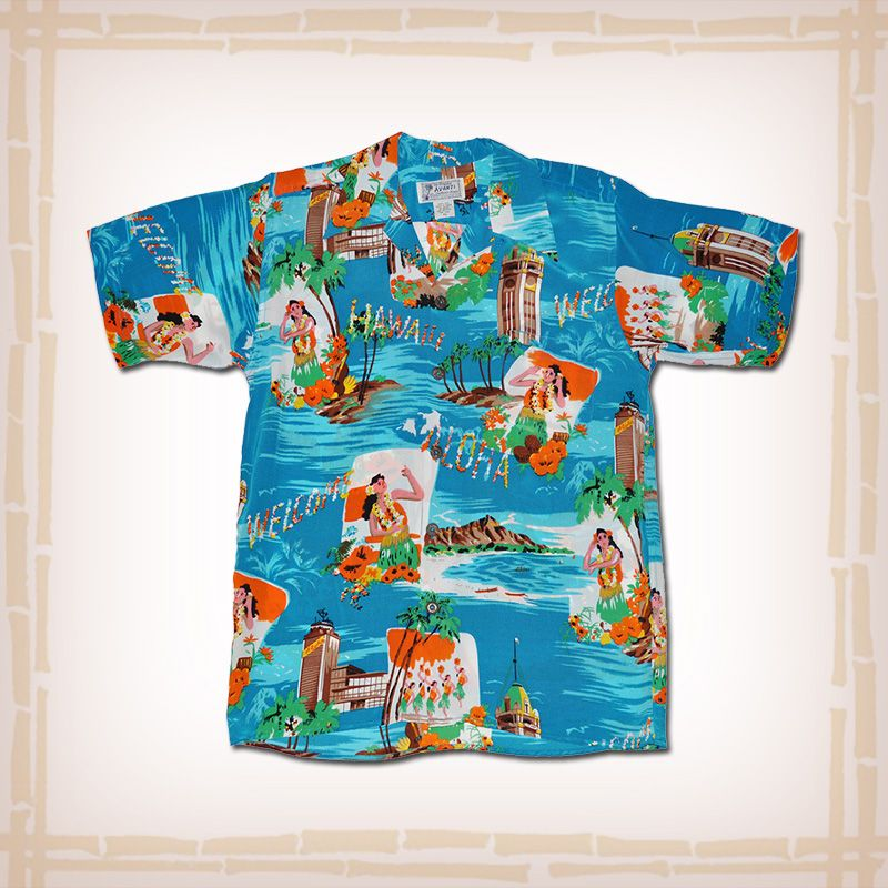 7fda264a Avanti Vintage Hawaiian Shirt Replica 1940's