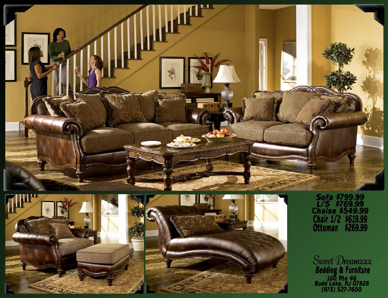 """Flowing with the rich beauty of Old World design the """"Claremore"""