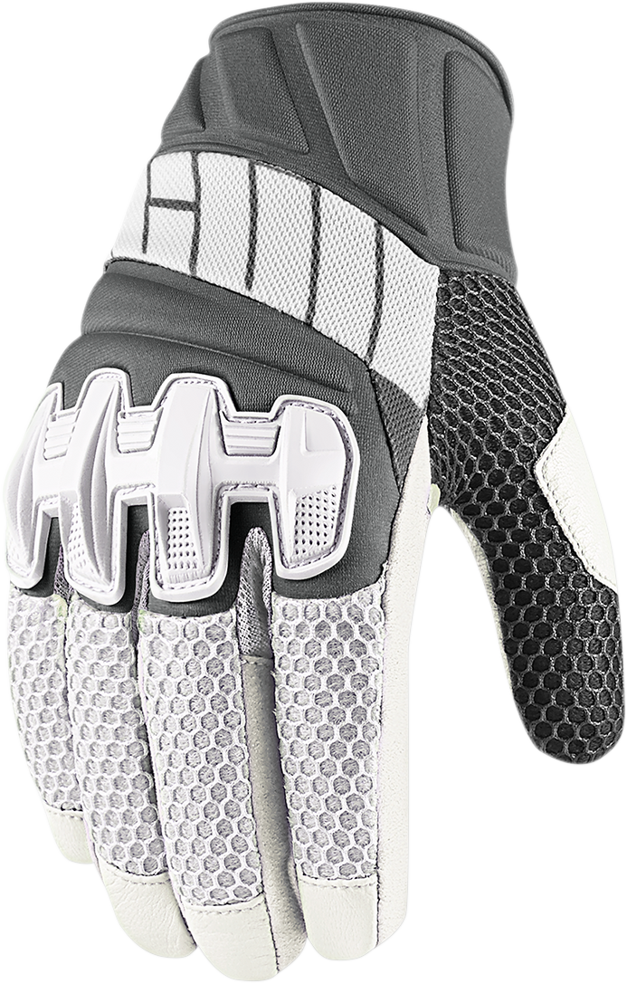 Overlord Glove White Products Ride Icon Motorcycle