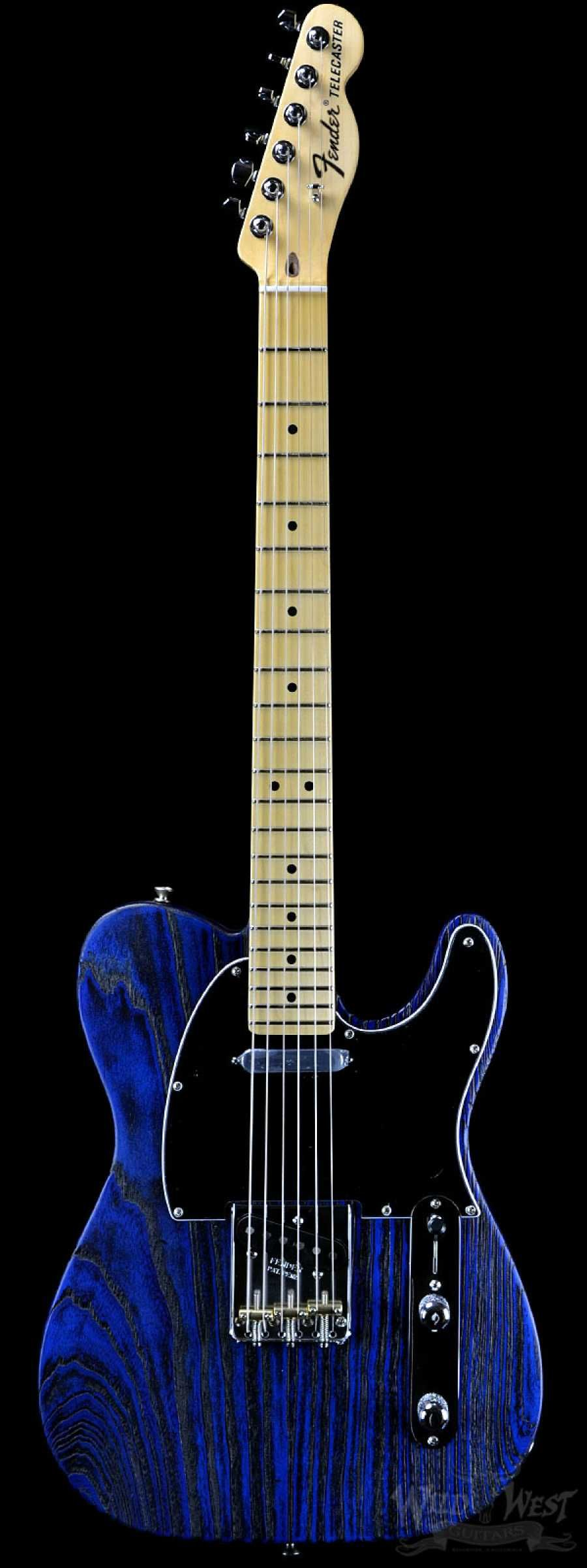 fender usa limited edition sandblasted telecaster sapphire blue transparent tele melee. Black Bedroom Furniture Sets. Home Design Ideas