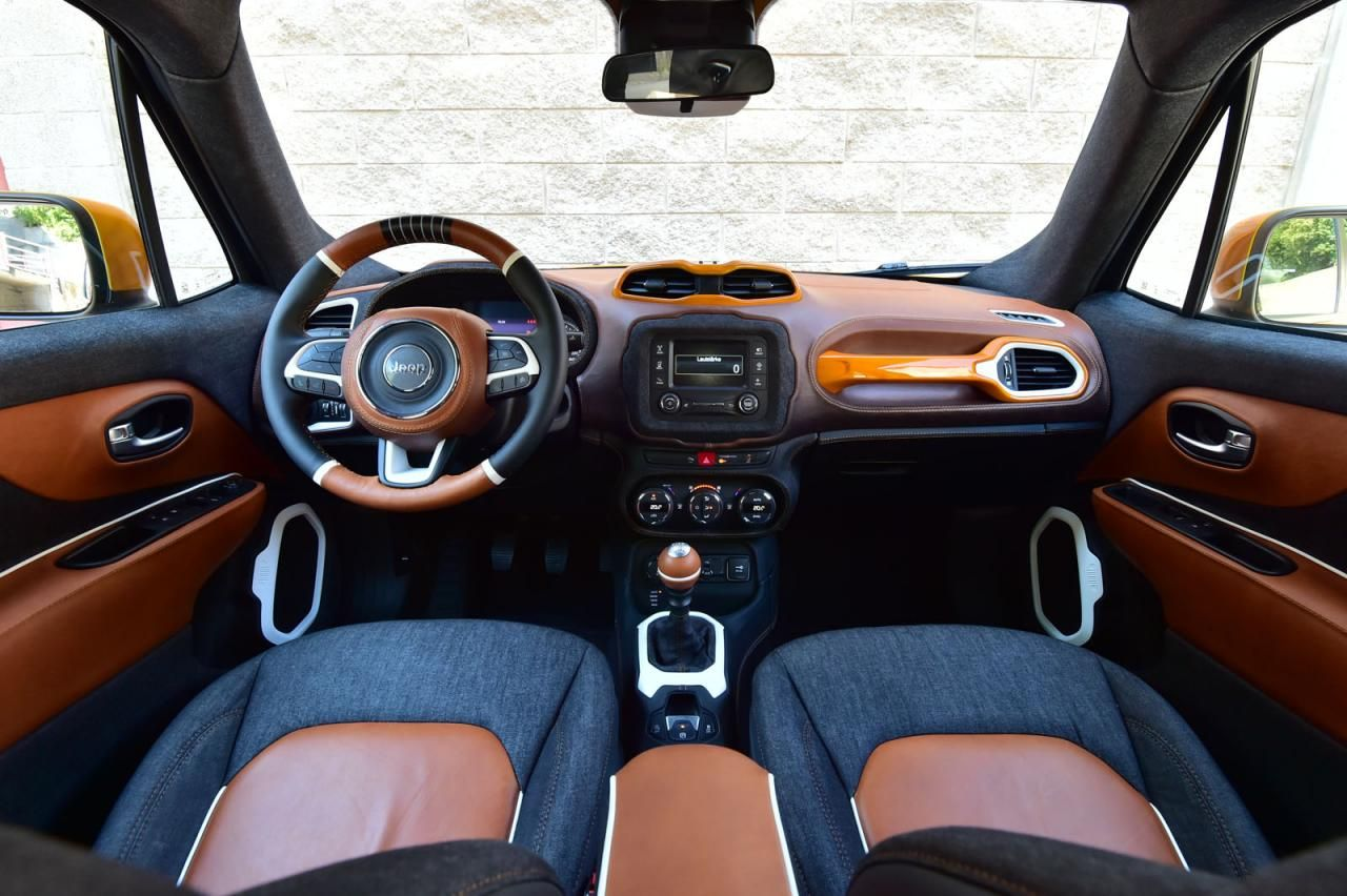 Jeep Garage Italia Customs Unveil Bespoke Renegades For The Montreux Jazz Festival Jeep Renegade Custom Jeep Jeep Renegade Interior