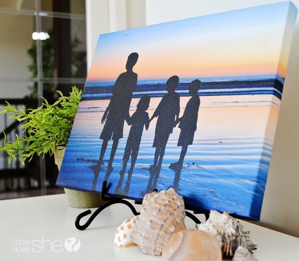 Do It Yourself Photo Canvas Prints - Learn how to make yours at HowDoesShe.com