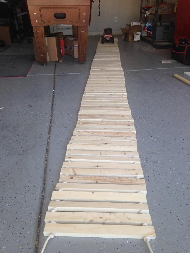 160 foot rope bridge