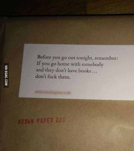 my book arrived with some unexpected words of wisdom