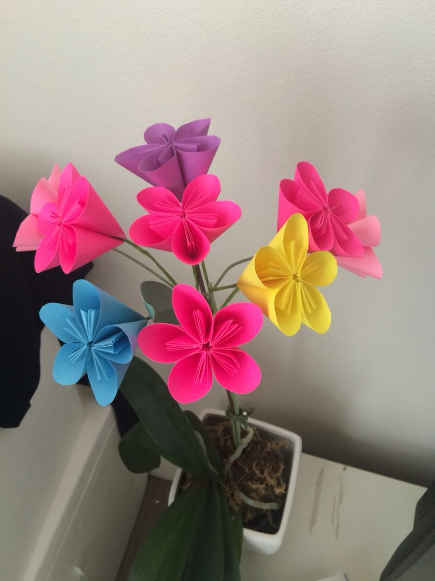 Post It Note Origami Flowers Crafty Me Pinterest