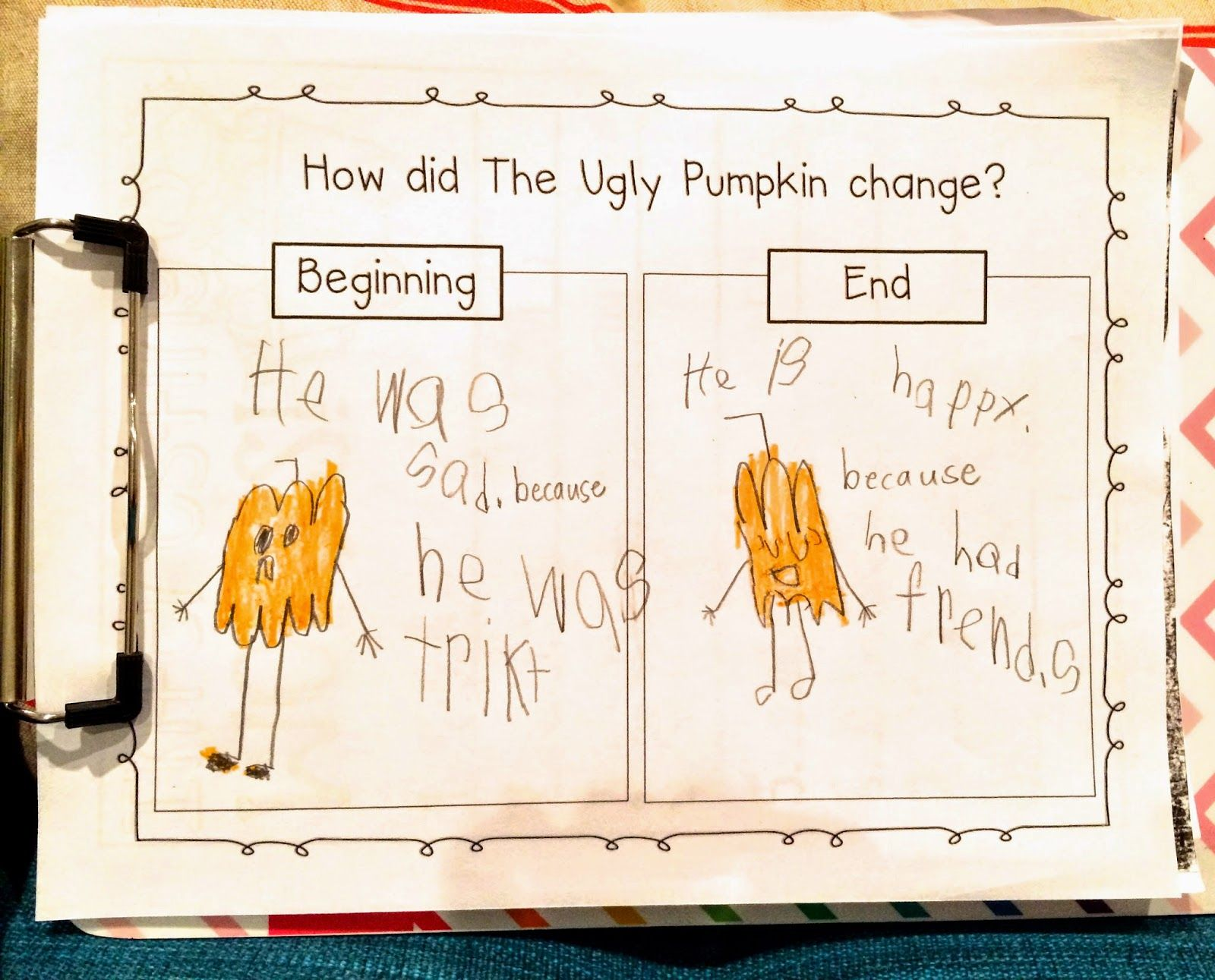 The Ugly Pumpkin An Activity For Primary Grades