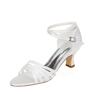 433a5b20edc  US  51.99  Women s Silk Like Satin Chunky Heel Sandals With Others  (047118975