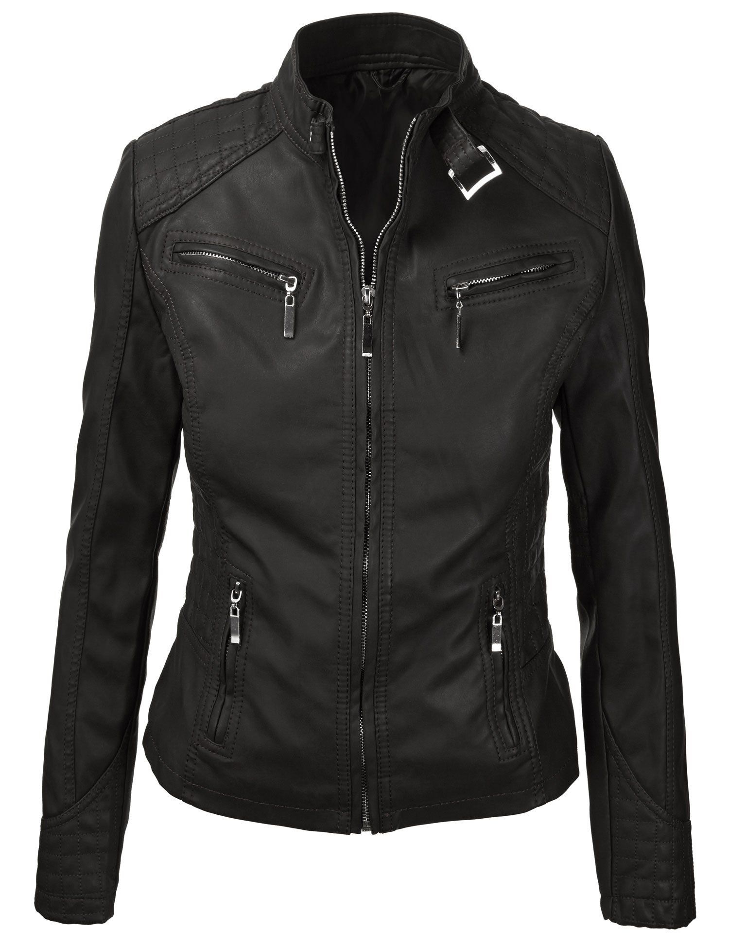 MBJ Womens Panelled Faux Leather Moto Jacket 29.95