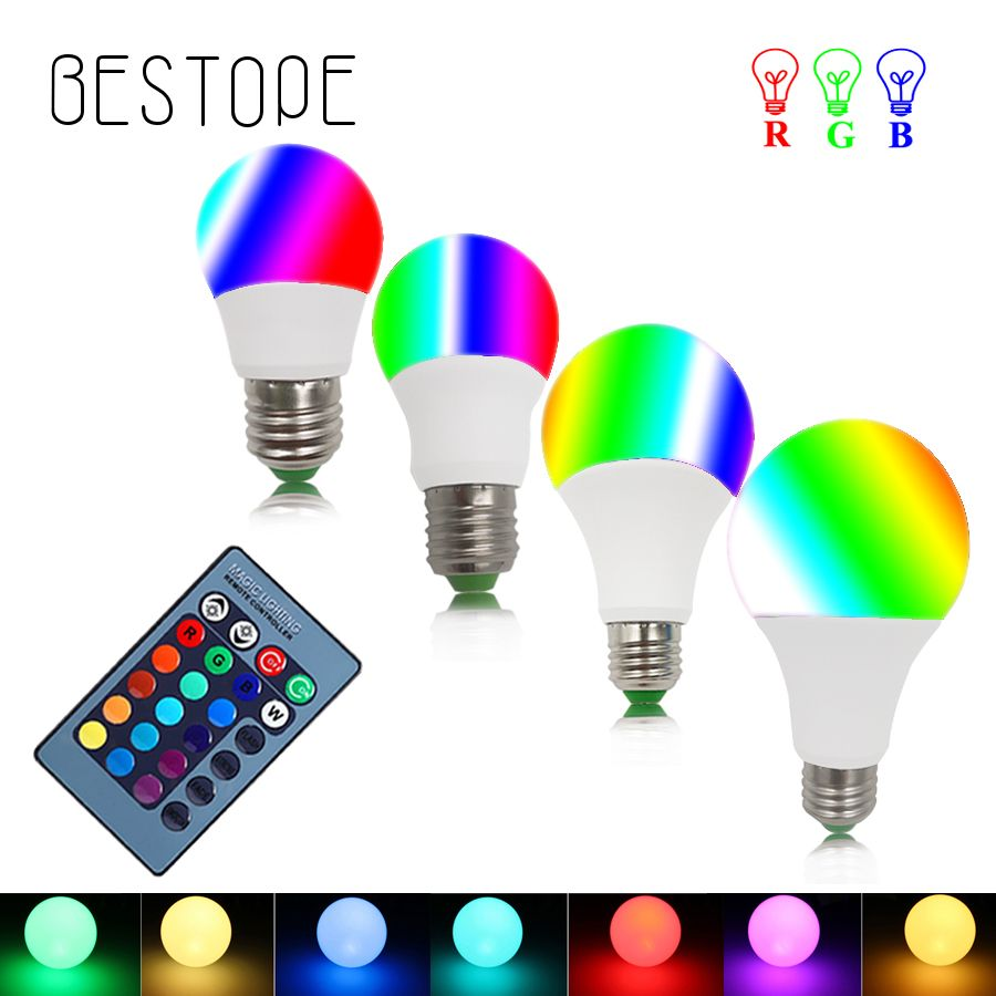 BESTOPE RGB LED Ampoule RGBW LED lumi¨re Lampe E27 3 W 5 W 7 W 10 W