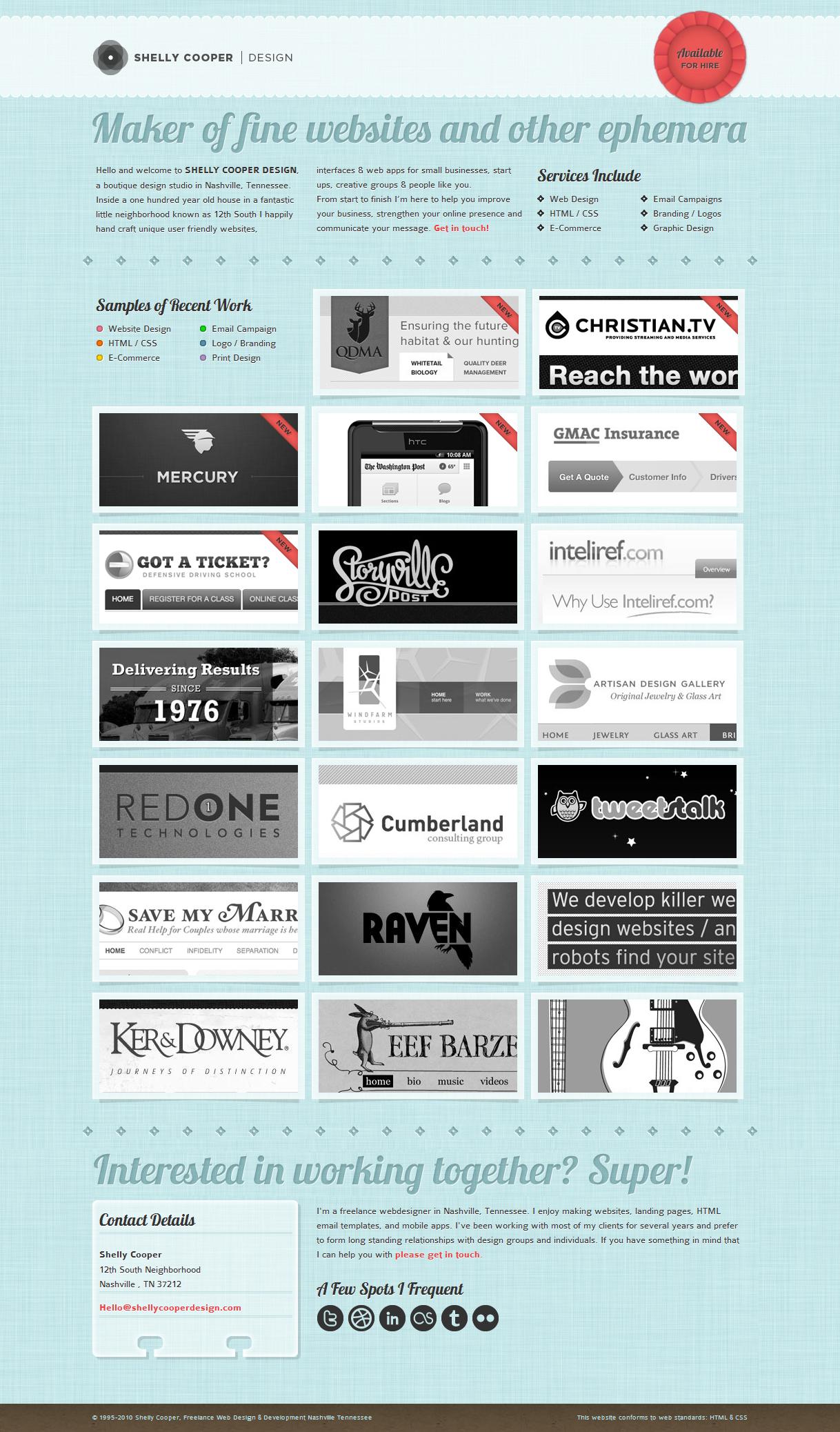 Shelly Cooper Design Design Maker Website Design Web Design