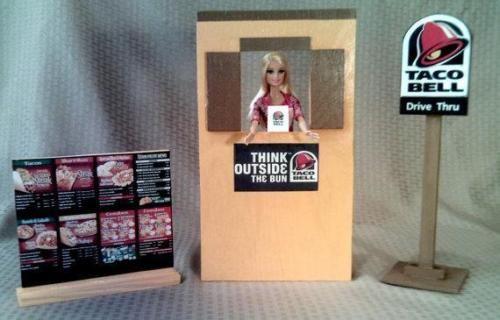 Barbie Sized Taco Bell Fast Food Drive Thru Play Set