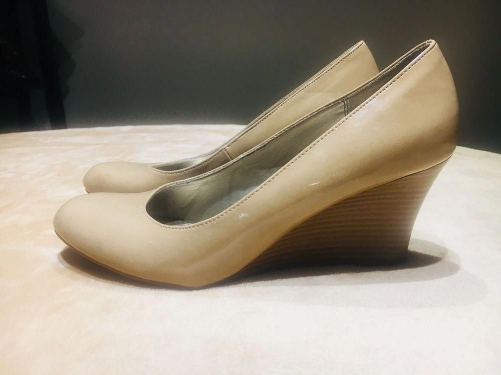 e703a5a20395 Dexter Beige Wedge Heels Size 9  fashion  clothing  shoes  accessories   womensshoes  heels (ebay link)  SauconyGuideWomensRunningShoesUk