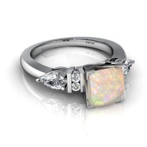 engagement rings vintage future husband Opal and diamond engagement ring