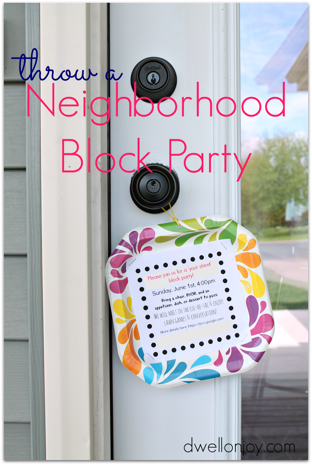 How to Throw a Block Party + Printable Invitation Template | The ...