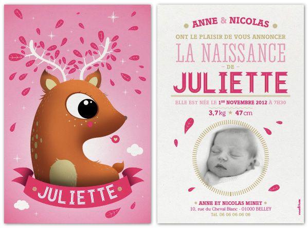 faire part de naissance MKT4 la naissance de Juliette