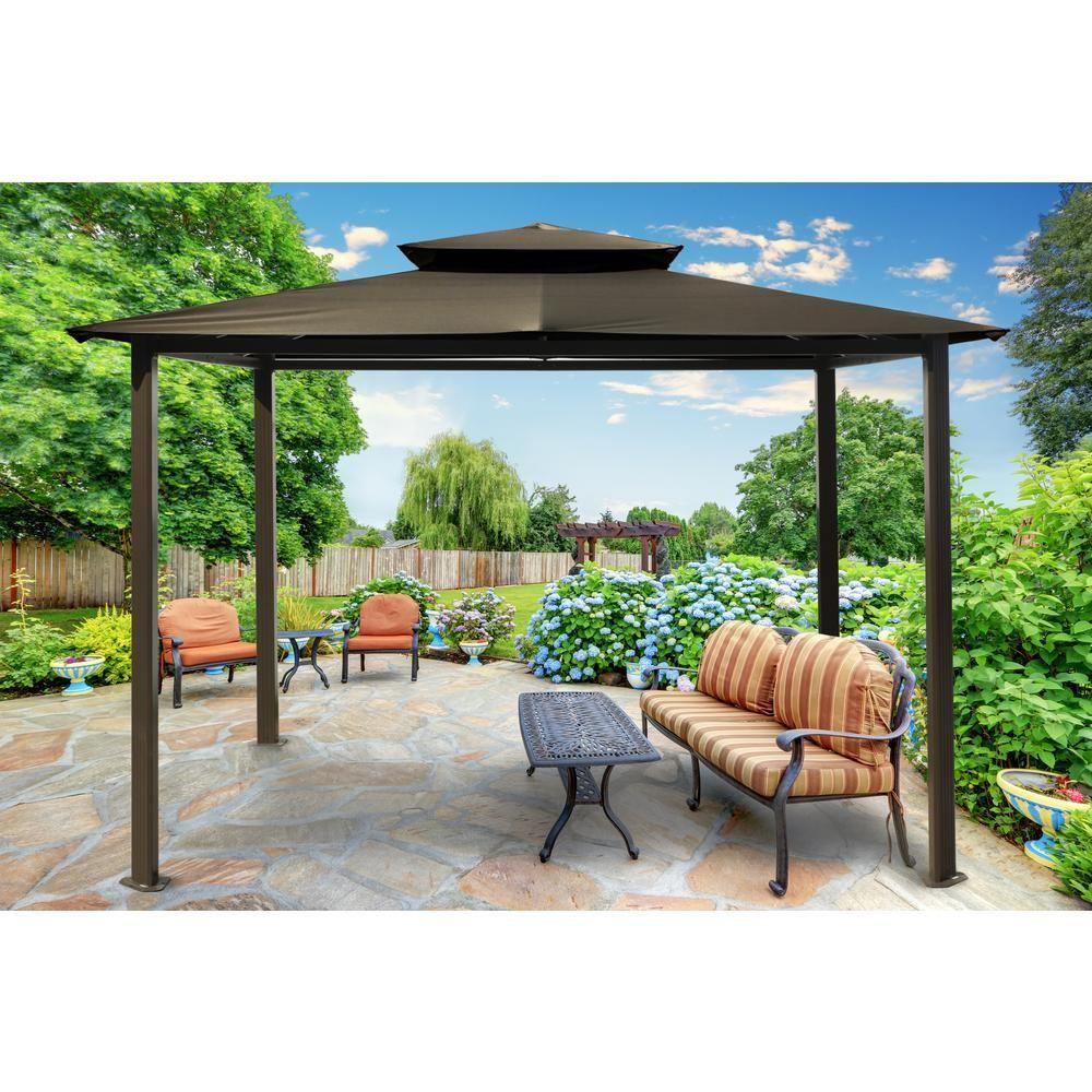 paragon outdoor paragon gazebo 10 ft x 12 ft with grey top rh pinterest com