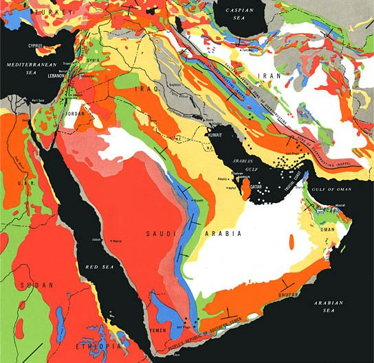 General Geology of the Middle East Aramco Handbook Oil and the