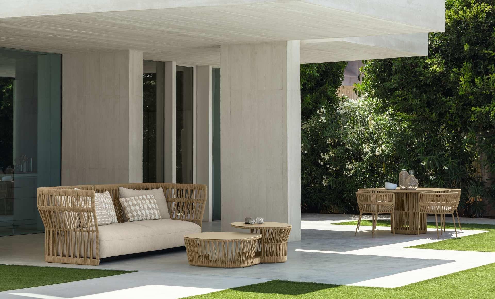 Cliff Braiding Sofa Italian Garden Furniture Talenti Modern Outdoor Lounge Outdoor Balcony Furniture Outdoor Furniture Australia