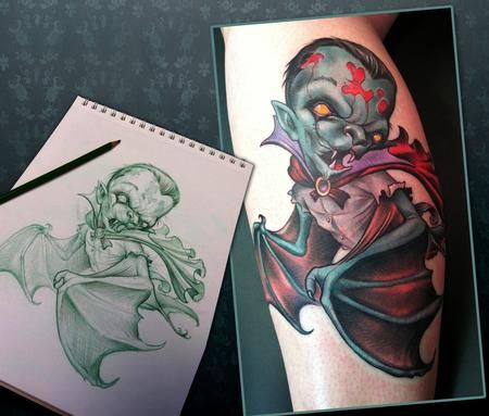 scotty munster vampire bat tattoo tattoo ideas pinterest tattoo tattoo designs and. Black Bedroom Furniture Sets. Home Design Ideas