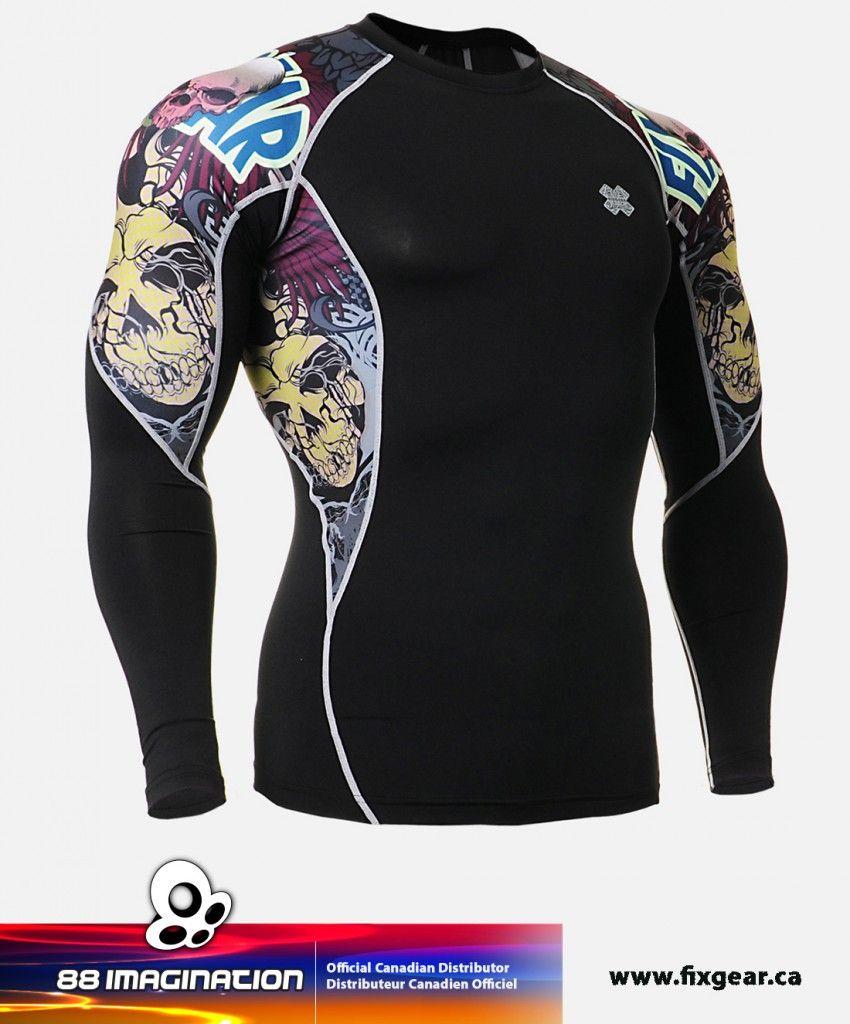 BTOPERFORM Compression Shirt Skin Tight Base layer Rash guard MMA Gym FX-106