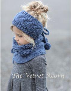 Photo of Knitting PATTERN-The Plumage Set (Toddler, Child, Adult sizes)