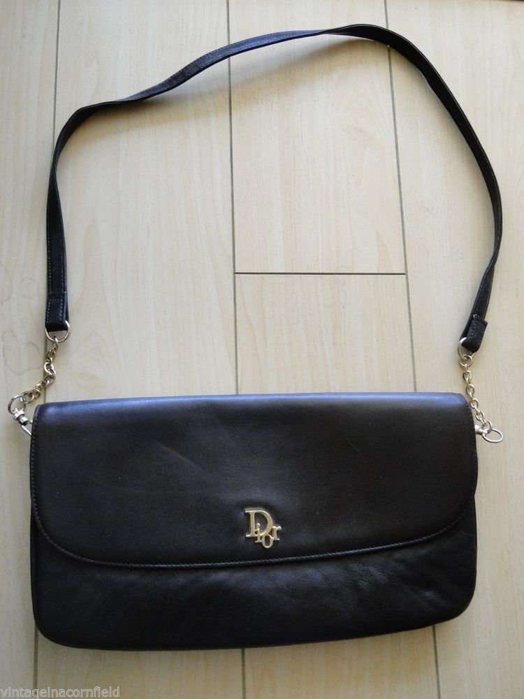 Dior Leather Shoulder Bag With Patches